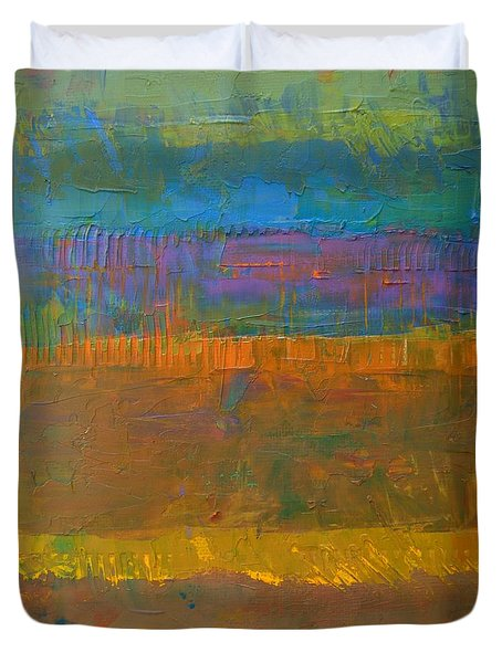 Color Collage One Duvet Cover by Michelle Calkins
