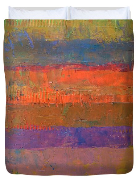 Color Collage Two Duvet Cover by Michelle Calkins