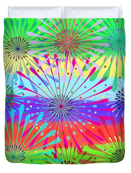 Color Cornucopia Duvet Cover