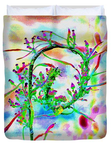 Color Curl Duvet Cover