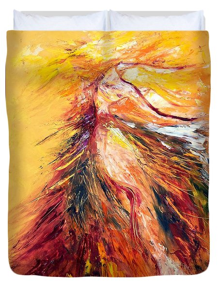 Color Dance Duvet Cover by Marat Essex