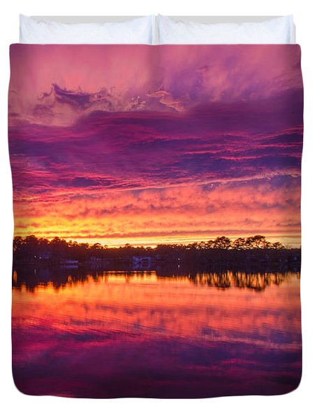Color Explosion Sunset Duvet Cover