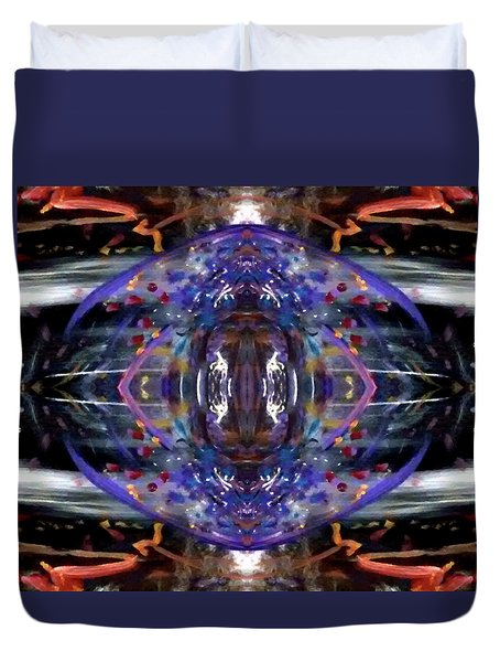 Duvet Cover featuring the digital art Color Eye by Michelle Audas