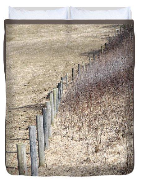 Color Fences Duvet Cover by Erick Schmidt