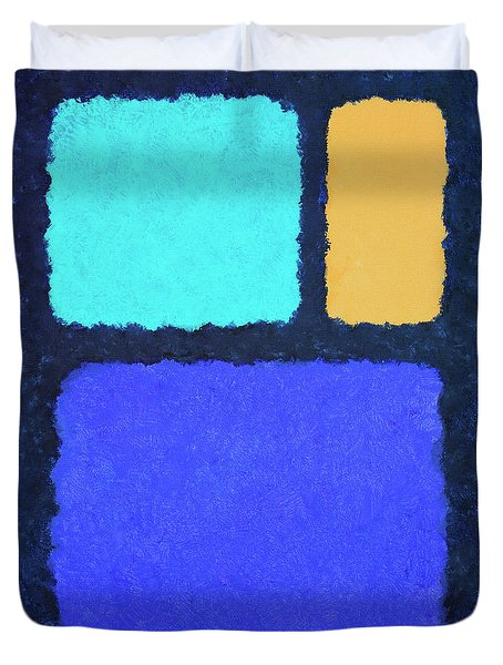 Duvet Cover featuring the painting Color Fields by Jutta Maria Pusl