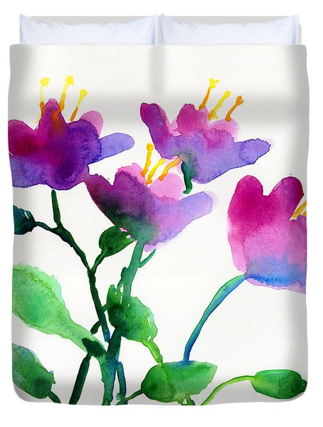 Color Flowers Duvet Cover