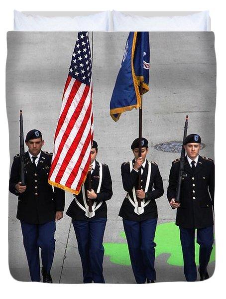 Color Guard Duvet Cover
