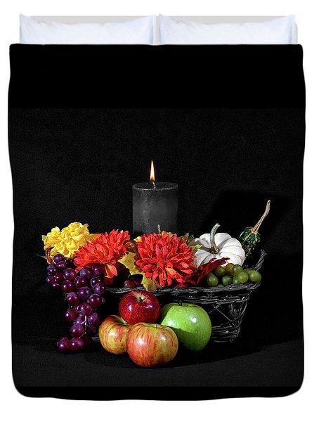 Color In A Basket Duvet Cover