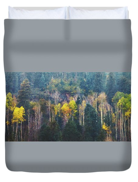 Color In A Snowstorm Duvet Cover