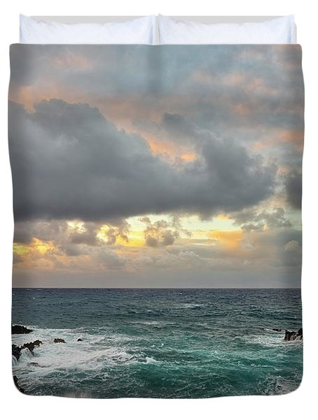 Color In Maui Duvet Cover