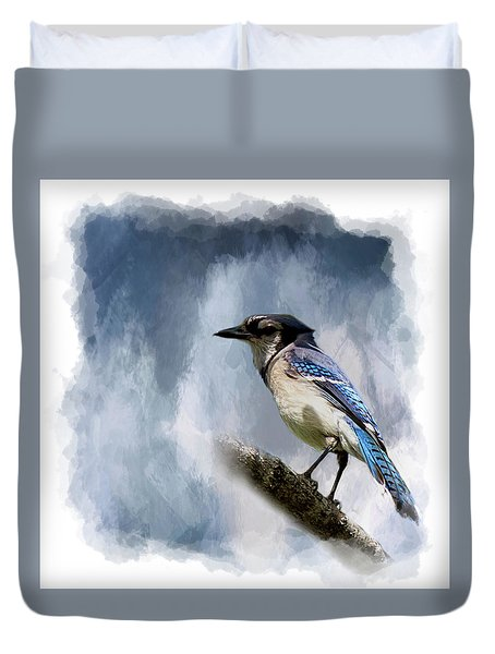 Color Me Blue Duvet Cover by Cyndy Doty