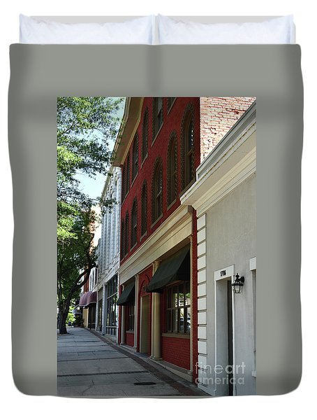 Duvet Cover featuring the photograph Color Me Main St Usa by Skip Willits