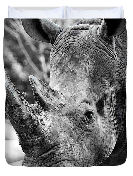 Duvet Cover featuring the photograph Color Me Rhino by John Haldane