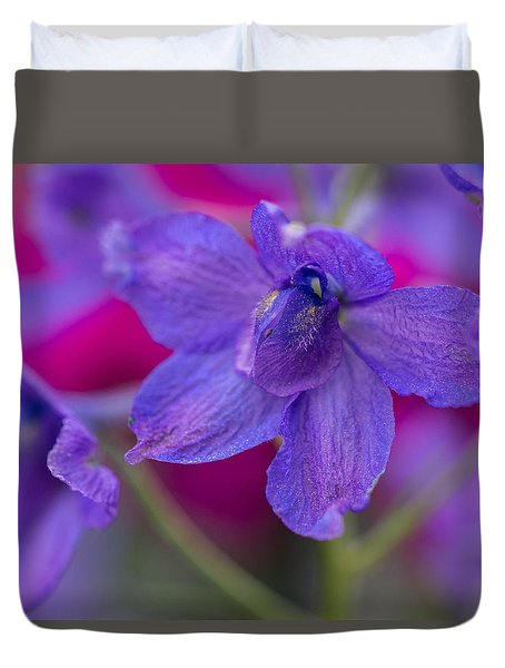 Duvet Cover featuring the photograph Color Me Spring by Julie Andel