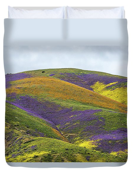 Duvet Cover featuring the photograph Color Mountain I by Peter Tellone