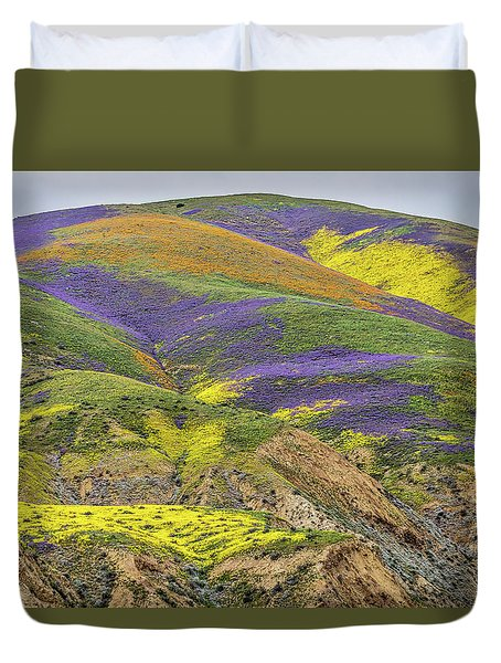 Duvet Cover featuring the photograph Color Mountain II by Peter Tellone