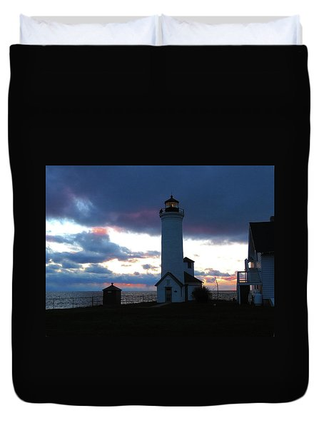 Color Of December, Tibbetts Point Lighthouse Duvet Cover