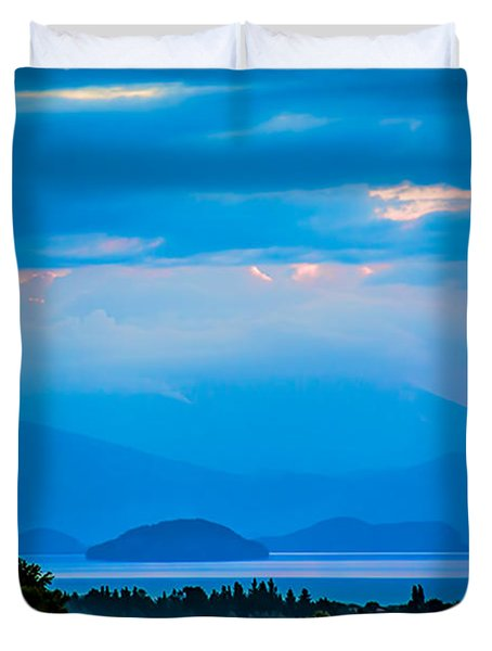 Color Over The Lake Duvet Cover