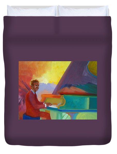 Color Piano Justin Levitt Steinway Duvet Cover