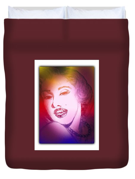 Color Rendition Of Marilyn Monroe #2 Duvet Cover