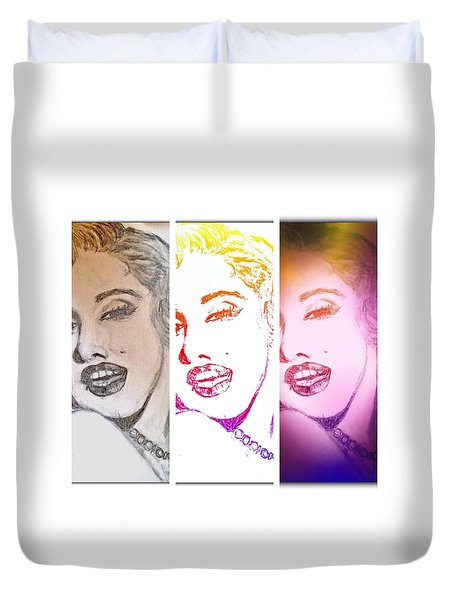Color Rendition Of Marilyn Monroe #3 Duvet Cover