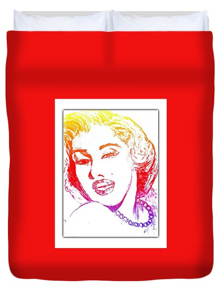 Color Rendition Of Marilyn Monroe Duvet Cover
