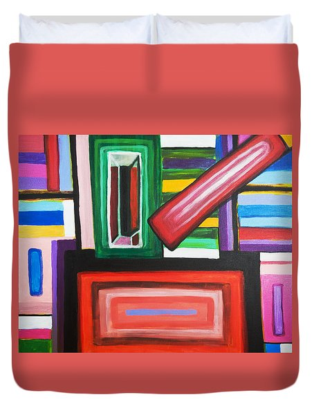Color Squares Duvet Cover