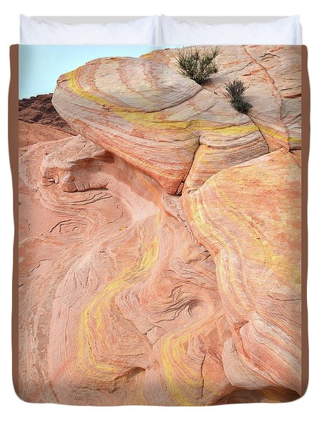 Duvet Cover featuring the photograph Color Swirls In Valley Of Fire State Park by Ray Mathis