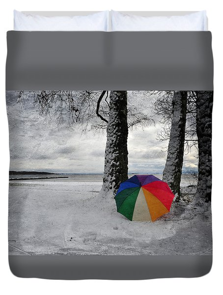 Color To The Melancholy Duvet Cover