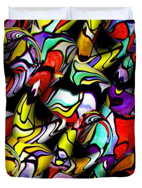 Color Unfolds Duvet Cover by Joan  Minchak