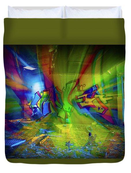 Color Wave Duvet Cover