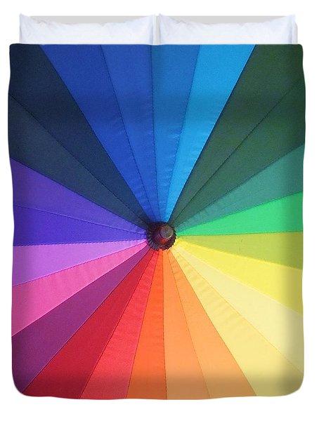 Color Wheel Duvet Cover