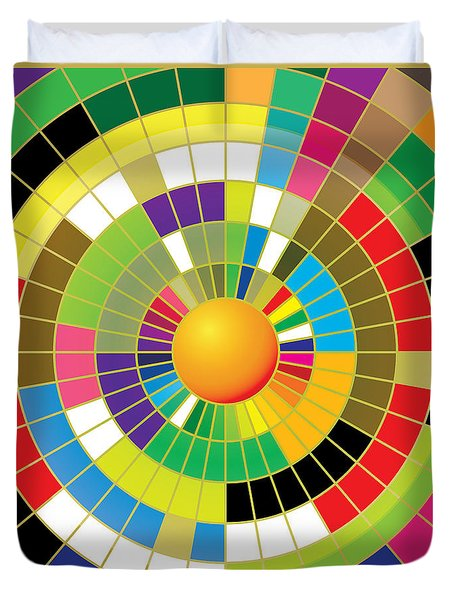 Color Wheel Duvet Cover