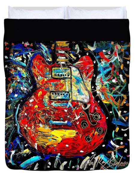Color Wheel Guitar Duvet Cover