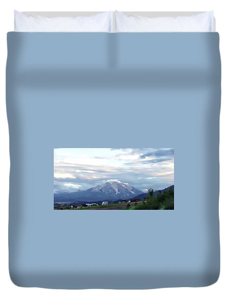 Duvet Cover featuring the photograph Colorado 2006 by Jerry Battle