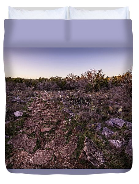 Colorado Bend State Park Gorman Falls Trail #1 Duvet Cover