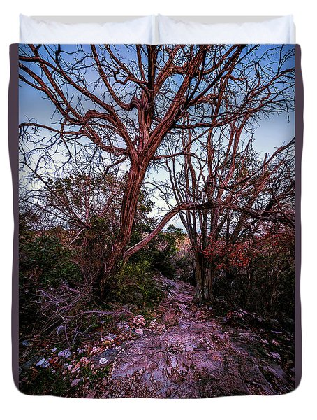 Colorado Bend State Park Gorman Falls Trail #3 Duvet Cover
