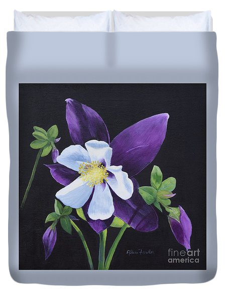 Colorado Blue Columbine Duvet Cover