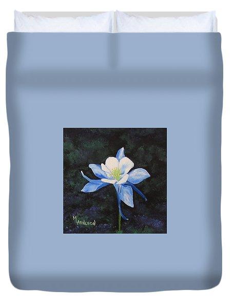 Colorado Blue Duvet Cover by Mary Arneson