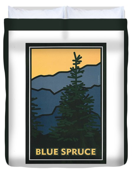 Colorado Blue Spruce Duvet Cover