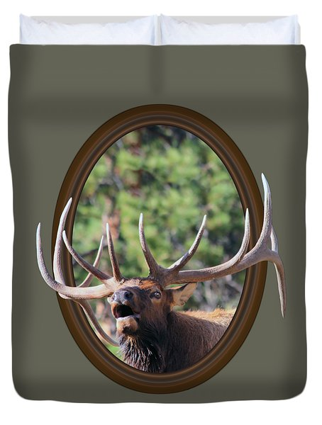 Duvet Cover featuring the photograph Colorado Bull Elk by Shane Bechler