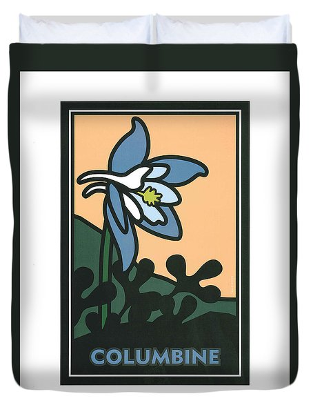 Colorado Columbine Duvet Cover