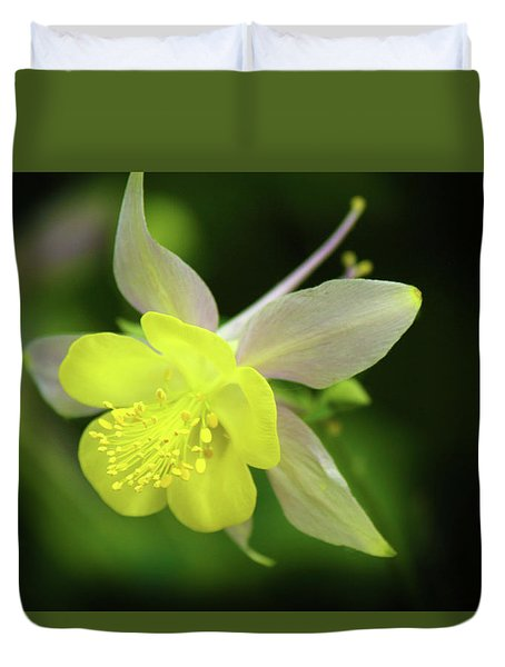 Duvet Cover featuring the photograph Colorado Columbine by Marie Leslie