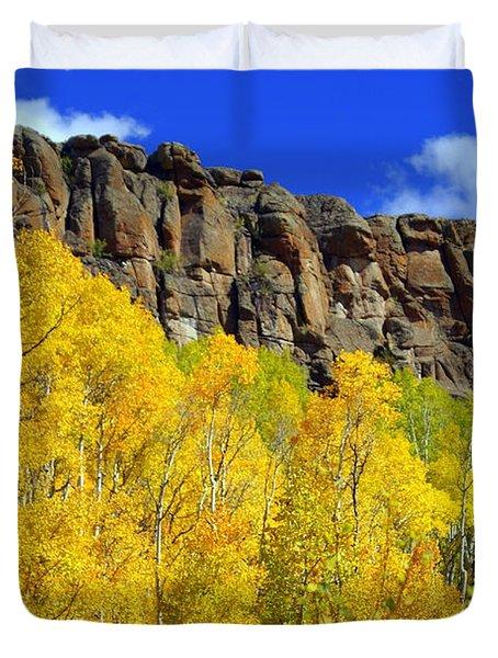 Colorado Fall 3 Duvet Cover by Marty Koch
