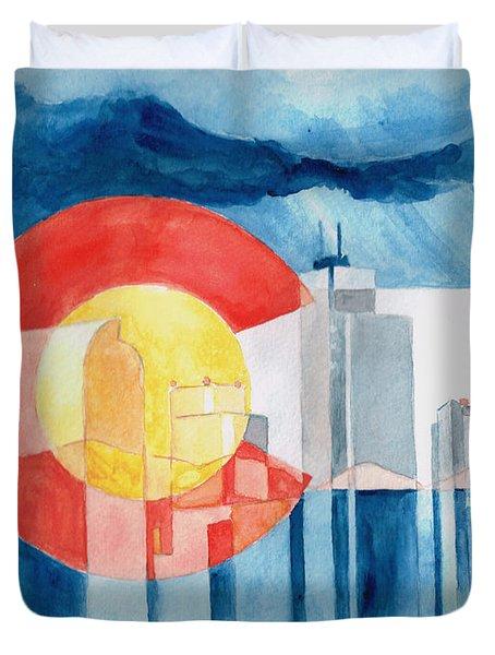 Colorado Flag Duvet Cover