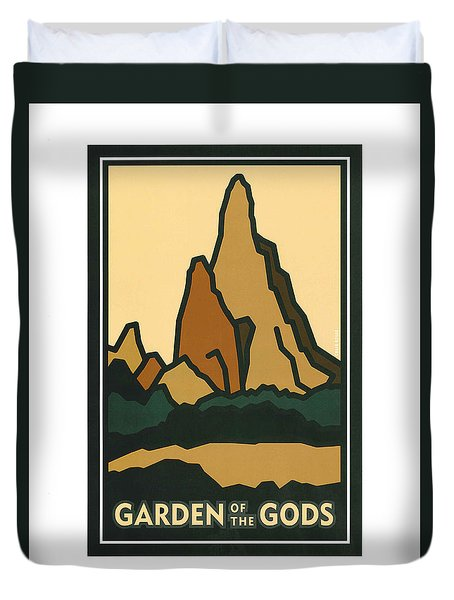 Colorado Garden Of The Gods Duvet Cover