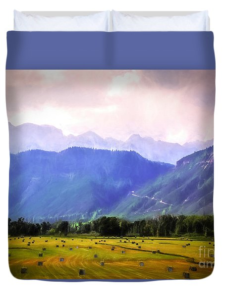 Colorado Harvest Watercolor  Duvet Cover