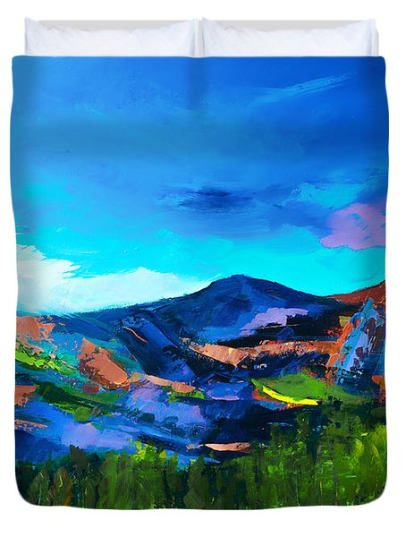 Colorado Hills Duvet Cover