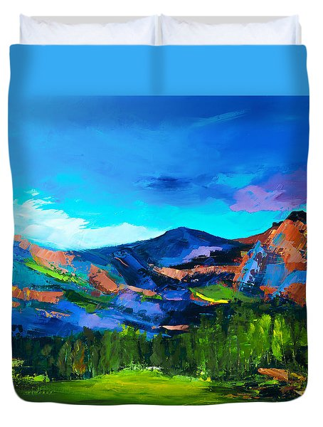 Colorado Hills Duvet Cover
