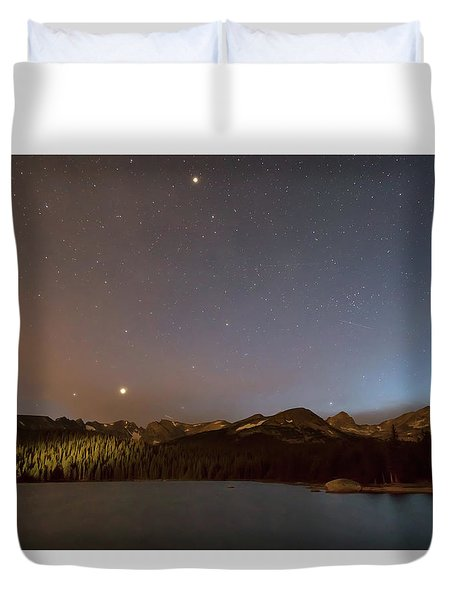 Duvet Cover featuring the photograph Colorado Indian Peaks Stellar Night by James BO Insogna